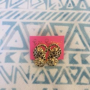 Lilly Pulitzer Jewelry - Lilly Pulitzer Leopard Earrings